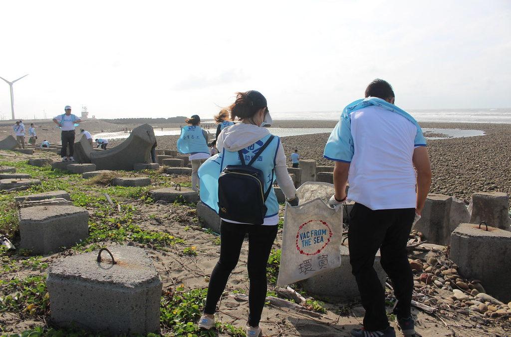 瑞助營造台中淨灘 狂風不減護海洋決心
